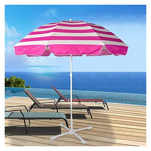 DXYSS Sombrilla Parasol con Ángulo Ajustable Patio Plegado Parasol Beach Sun Paraguas Apto para Restaurante, Patio, Playa, césped, Cubierta, Patio y Piscina, protección UV, con Base de Parasol
