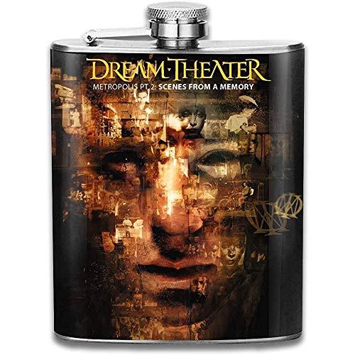 Dream Theater scènes van een geheugen Outdoor Draagbare RVS Vlagon Liquor Hip Flask Set