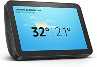 "Introducing Echo Show 8 - HD 8"" smart display with Alexa - Charcoal Fabric"