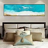 Carteles e impresiones artísticos Arte de la pared Pintura en lienzo Paloma volando en el cielo Posters Imágenes artísticas pared Sala de estar Decoración del hogar 15.7 'x47.2' (40x120cm) Sin marco