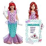 Child Girl Mermaid Princess Costume (Small (5-7 yr)) Pink