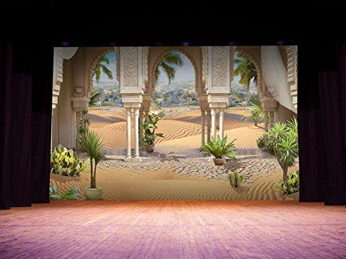 Fondos Escenarios Arcos Arabes en Lona de 500gr de 500x300cm | La Lona se manda Enrollada para Evitar Arrugas | Ideal para Festivales Comedias Teatralización | Fondos Profesionales