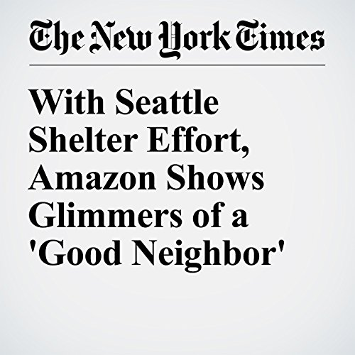 With Seattle Shelter Effort, Amazon Shows Glimmers of a 'Good Neighbor' audiobook cover art