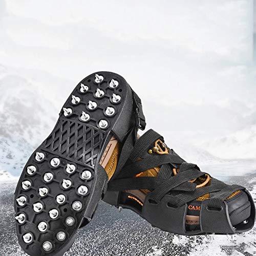 C/H 32 dientes Nail Ice Gripper Spike Zapatos antideslizantes antideslizantes para zapatos de nieve y hielo Crampones tacos tacos botas de escalada