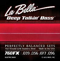 LA BELLA (ラベラ) エレキベース弦 760FX Deep Talkin' Bass Flats Extra Light 39-96