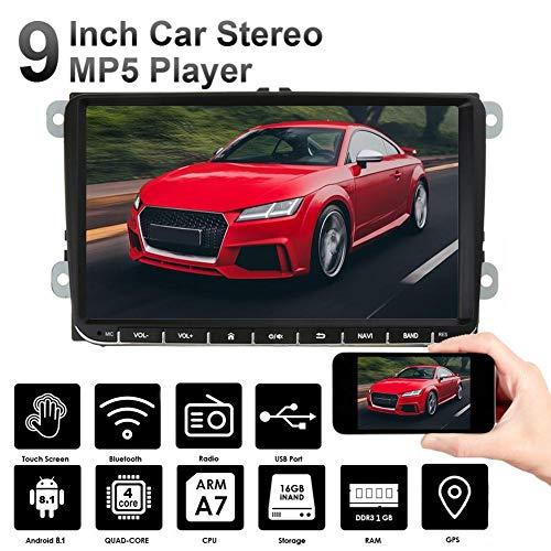 Auto GPS-navigatie en dvd-speler - Dubbel Din, Bluetooth-audio en bellen, 9 inch LCD-touchscreenmonitor, MP3 CD DVD USB SD, Aux-in, AM FM-radio-ontvanger