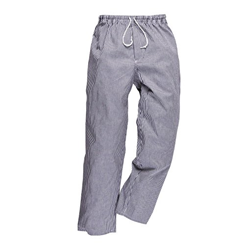 Portwest Bromley Pantalon de chef, Bleu, L