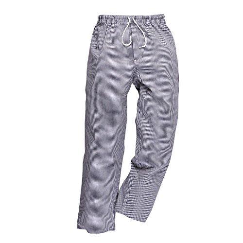 Portwest C079CHRXXL Bromley Pantalon de Chef Blanc/Bleu, XXL