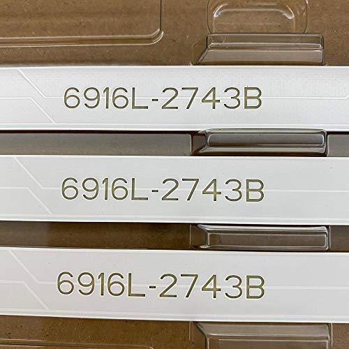 Tira de retroiluminación LED para LG 43LH5100 43LH615V 43LH7500 43LH604V 43LH570V 43LH590V 43LH510V 43LH5700 6916L-2743A...