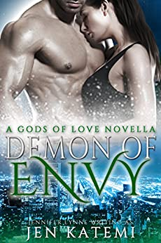 Demon of Envy: A Steamy Paranormal Romance (Gods of Love Book 5) by [Jen Katemi, Deadra Krieger]