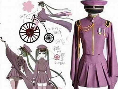 VOCALOID 初音ミク 千本桜 コスプレ 衣装 Mサイズ 6点セット ウィッグ と コスチューム セットで