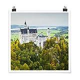 Bilderwelten Poster Wanddeko Schloss Neuschwanstein