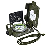 ESYNIC Professional Military Army Metal Sighting Compass Pocket Size for Camping Hiking Hunting