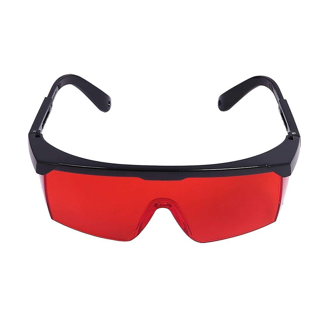 RAAKIMO 保護メガネ 安全眼鏡 レーザーからガード 青色のピコ秒レーザーペンにおすすめ