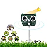 Répulsif Chat Ultrason,Repulsif Chat Exterieur,répulsifs à énergie solaire, fréquence réglable pour éloigner les animaux, répulsifs, écureuils, souris et oiseaux pour cour, camping, ferme