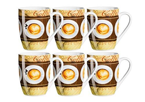 Mäser Kaffeebecher bauchig 29 cl, Porzellan COFFEE FANTASTIC