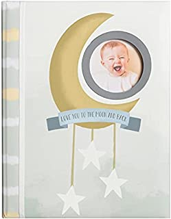 C.R Gibson B2-23934 Love You to the Moon and Back Gender Neutral Baby Memory Book, 8.8'' W x 11.2'' H