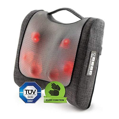 Krafty Massagekissen Donnerberg München Rückenmassagegerät für Shiatsu und Klopfmassage 4D - Massagegerät mit Infrarotwärme TÜV Süd 7 Jahre Garantie