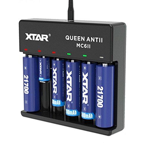 'XTAR MC6'Queen ANT 6alloggiamenti caricatore USB Display LCD Nero