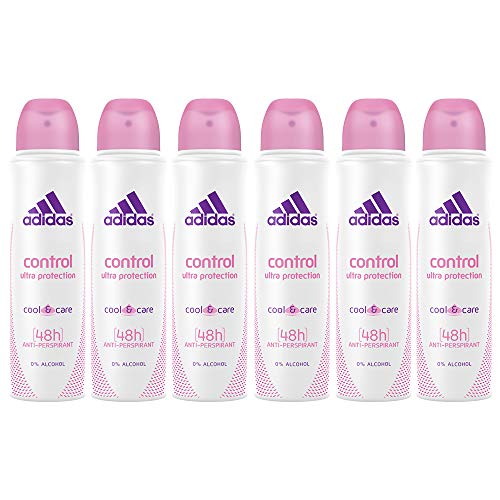 Adidas Control Ultra Protection Cool & Care, 48h Anti-Perspirant Spray For Women 5 Oz (6 Pack)