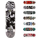 WeSkate Completo Skateboard para Principiantes, 80 x 20 cm 7 Capas...