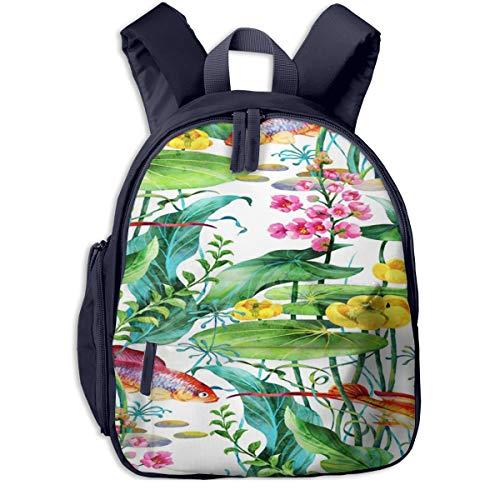 Kinderrucksack Kleinkind Jungen Mädchen Kindergartentasche Aquarium Wasserpflanzen Blume Backpack Schultasche Rucksack