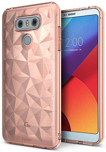 Ringke Cover LG G6, [Air Prism] 3D Design Vogue Piramide Bella Elegante Fantasia a Diamante Flessibile Trama Protettiva Simile a Gioiello TPU Resistente Cadute Custodia LG G6 Plus - Rosa (Rose Gold)
