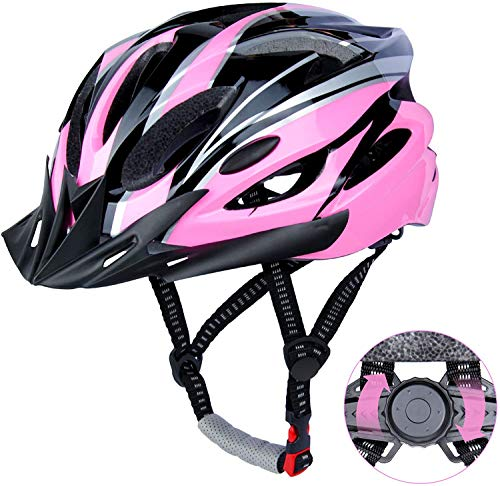 DesignSter Lightweight Helmet Road Bike Cycle Helmet Mens Women for Bike Riding Safety Adult(Fits Head Sizes 57-63cm) (Pink)