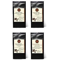 Kaffee Geschenk Set - 4 x Kaffee als Probierset - Jamaica Rum, Vanille, Eierlikör, Haselnuss