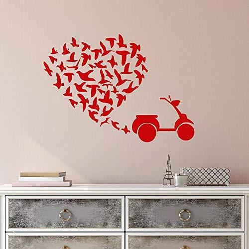 Herde von sAufkleber für Schlafzimmer Roller Tic Liebe Herz VinylAufkleber Dekor Wohnzimmer selbstklebend W