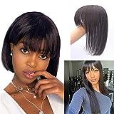 Topper Hair Piece for Women 25cm 8A Human Hair Toupee Hairpiece Extension Clip...