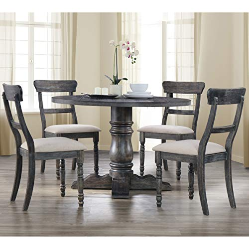 Best Master Furniture Weathered Grey 5-Piece Dinette Set
