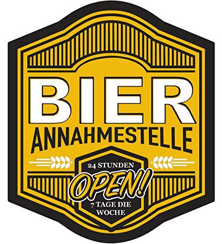Aufkleber Bier Annahmestelle 11 cm oder 40 cm Alkohol Stammtisch Kneipe wirt