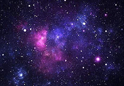 Zbzmm vlies-fotobehang, Galaxy ruimte, sterren, universum, cosmos, decoratie, aanbiedingen, wandfoto 360cm(w) X 220cm(h)