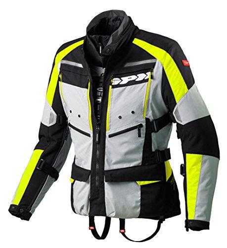 Motorradjacke 4Jahreszeiten H2OUT Yellow Fluo Spidi, Größe L