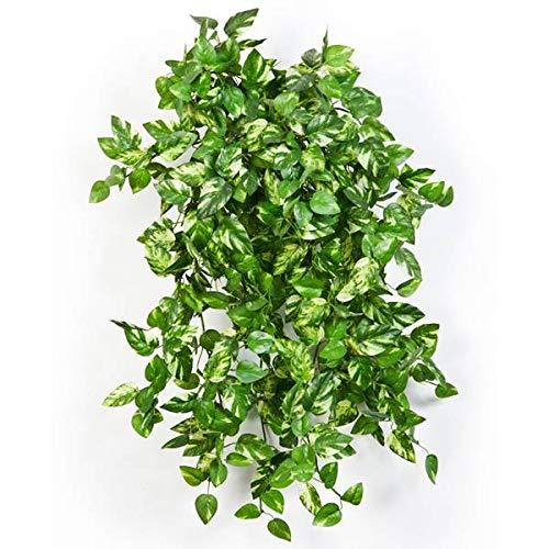 artplants.de Mini arbusto Enredadera pothos Artificial con 560 Hojas, Verde-Amarillo, 55cm - Pequeña Planta Decorativa - Mata Colgante sintética