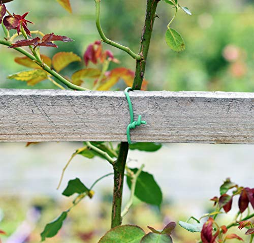 Soft Twist Tie Garden Plant Tie 4 : Green Plant tapes soft TPR, garden twist tie, garden tie for plants. 16 feet long of 5 mm / 0.197 inches width (diameter). : UV Inhibitor included in TPR material, lasts long among your garden supplies. : Supporting tomatoes and roses, this twist tie works well with organizing flowers and vegetations in the garden.