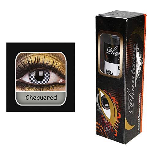 Kontaktlinsen ''Kariert'' | Karneval | Fasching | Motivlinsen | ohne Stärke | Eyecatcher | Accessoire | Kostüm | Geschenkidee | Tageslinsen | Preis am Stiel®