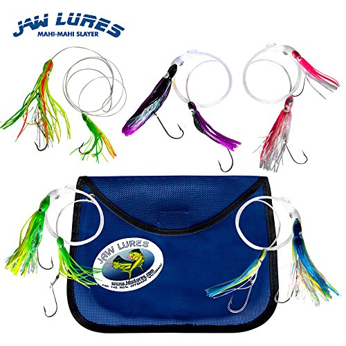 JawLures Official Offshore Deep Sea Fishing Lures. Uniquely Designed to Hook 2 Fish Simultaneously. Made in The USA (Mahi Mahi)
