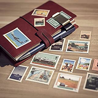 Sunny W Vintage Post Stamps Decorative Stickers,18 Pieces