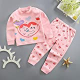 Children Baby Boys Girls Set Cotton Born Autumn Spring Fall Clothes Cartoon Toddler Suits 0-4Y Baby Outfits-Pink_Love_37-48M