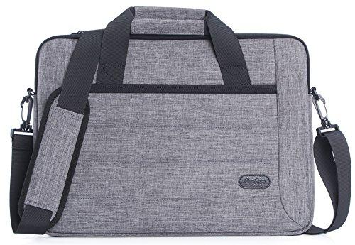 ProCase 11-12.9 Zoll Aktenkoffer Tasche Hülle mit Schultergurt und Griff für Tablet Laptop Ultrabook MacBook Air Chromebook Notebook Acer Asus Dell HP Lenovo Samsung Sony Toshiba -Grau