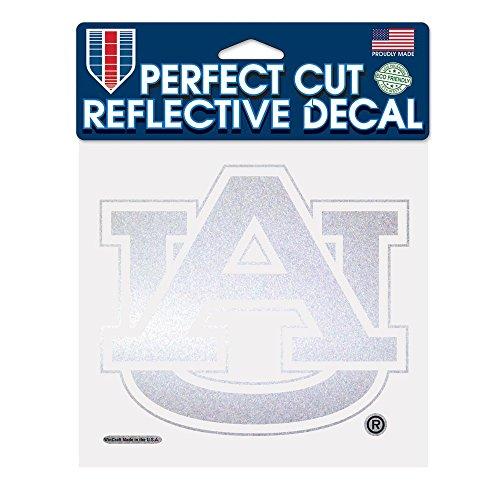 WinCraft NCAA Auburn University Reflective Perfect Cut, 6 x 6, Black