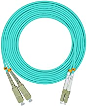 Jeirdus 1Meter 3ft LC to SC Duplex 50/125 10G OM3 Multi-Mode Fiber Optic Cable Jumper Optical Patch Cord LC-SC