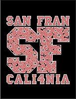 【FOX REPUBLIC】【サンフランシスコ カリフォルニア ロゴ】 黒マット紙(フレーム無し)A2サイズ