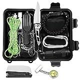 Gobesty Kit di Sopravvivenza, 20 in 1 Allaperto Set di Kit di equipaggiamento di...