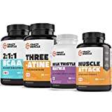Power Output Stack (4 Supplement Bundle) by Crazy Muscle: Ultimate Strength Gainer & Weight Lifting Booster - Muscular Growth Stacks & Bundles Can Be Used PreWorkout/PostWorkout - 400 Pills Pack