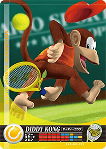 Nintendo Mario Sports Superstars Amiibo Card Tennis Diddy Kong for Nintendo Switch, Wii U, and 3DS