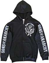 Sons of Anarchy Officially Licensed Merchandise SOA Backpatch Zipped Hoodie