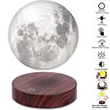 VGAzer Lampe lunaire lévitante, flottant et tournant librement avec une base en bois de luxe et une lumière 3D à LED Moon, pour des cadeaux uniques, une décoration d'intérieur, une veilleuse